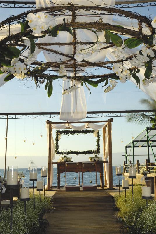 Cerimônia no Yatch Club Ilhabela - Mara Perez (foto: Carola Montoro)
